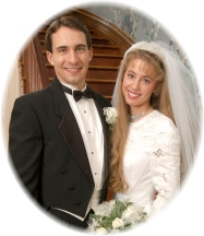 Dwayne (29 yrs. old) beside his beautiful bride, Kristen Hoover (22 yrs. old)