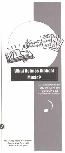 Biblical Music Tract: Click HERE to View Contents!